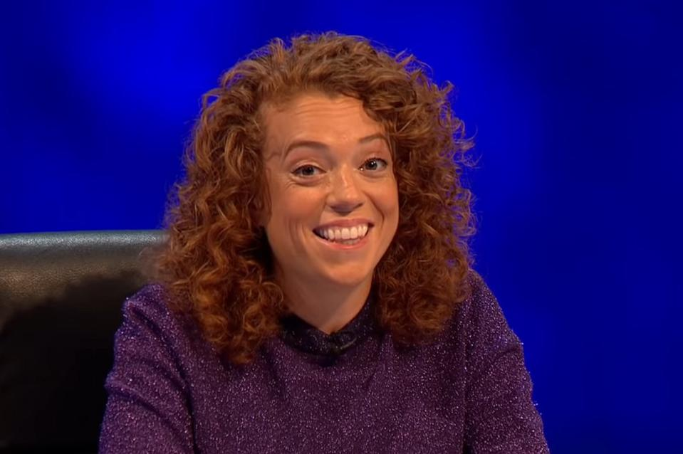 Michelle Wolf appears on an episode of the British comedy panel show '8 Out Of 10 Cats' on Channel 4.