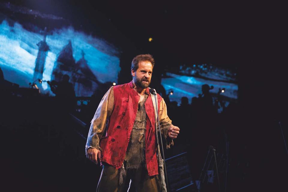 Alfie Boe as Jean Valjean in ″Les Miserables: The Staged Concert.″
