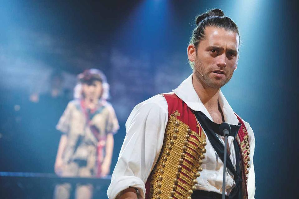 Bradley Jaden as Enjolras in ″Les Miserables: The Staged Concert.″