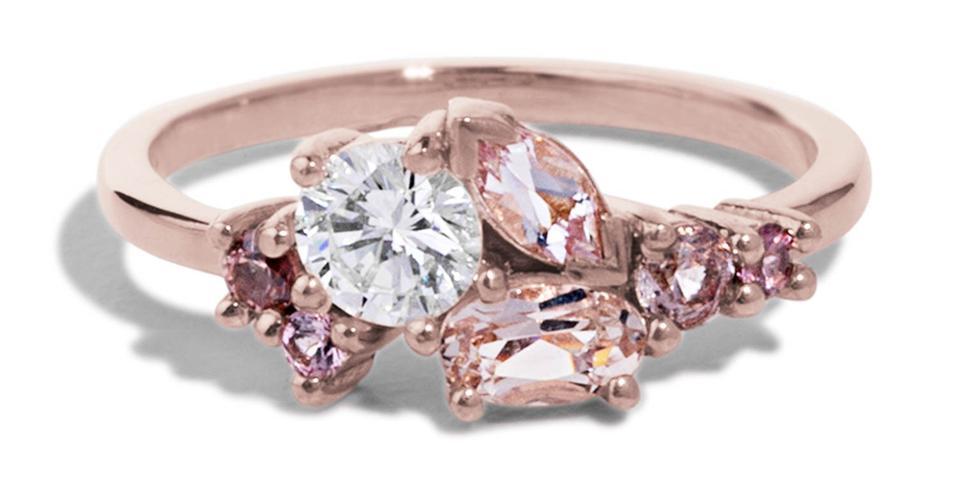 Bario Neal etik kaynaklı alternatif bir elmas nişan yüzüğü yaratıyor