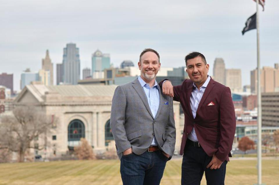 Kansas City-based Novel Growth Partners was co-founded by Keith Harrington, left, and Carlos Antequera.