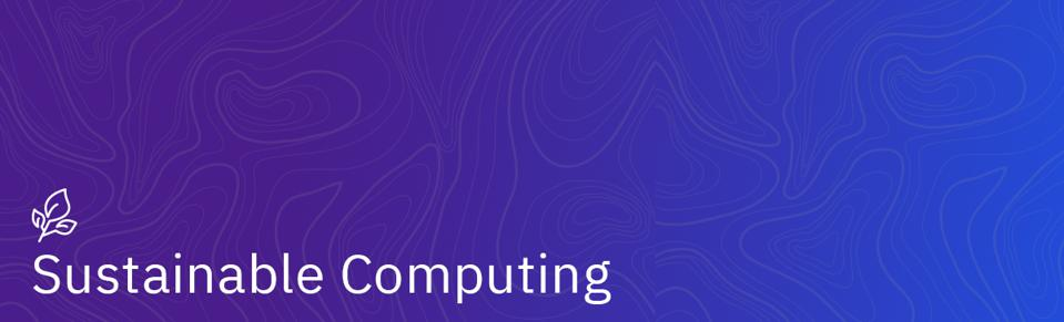Sustainable Computing banner image