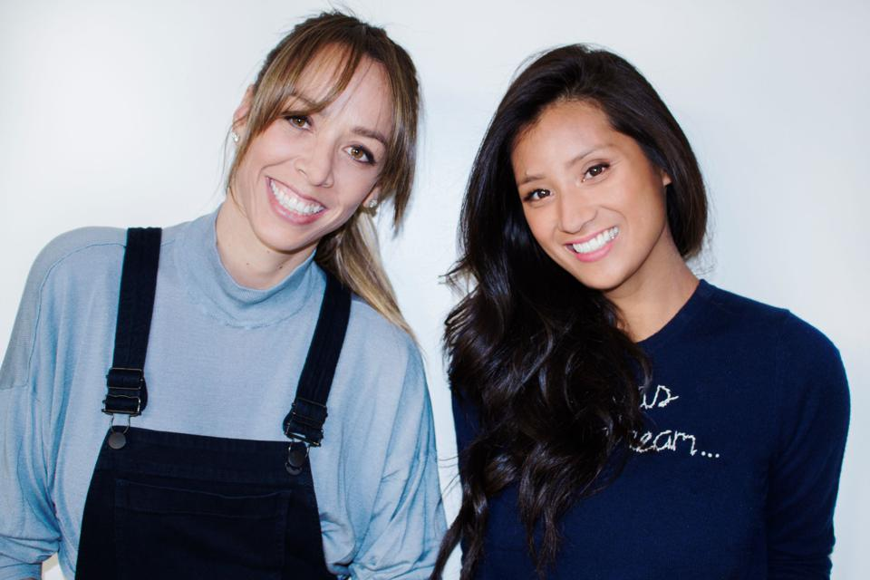 Angela Sutherland (left) and Evelyn Rusli are cofounders of baby food startup Yumi.