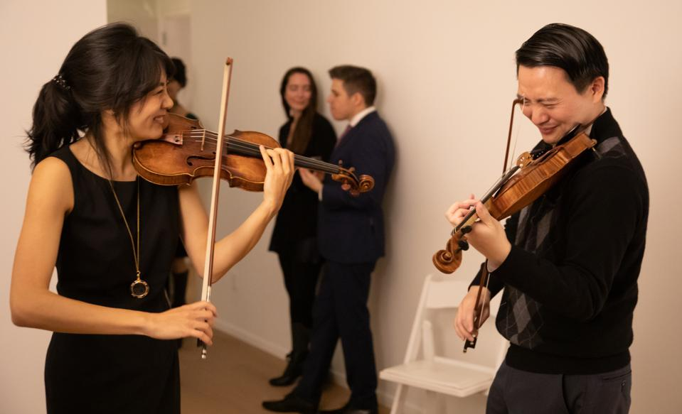 After Arts Group members Stephanie Yoshida and Jeffery King at an After Arts Revelry.