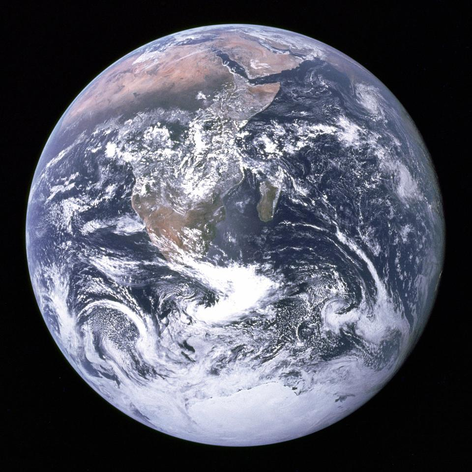 Blauer Marmor: Planet Erde