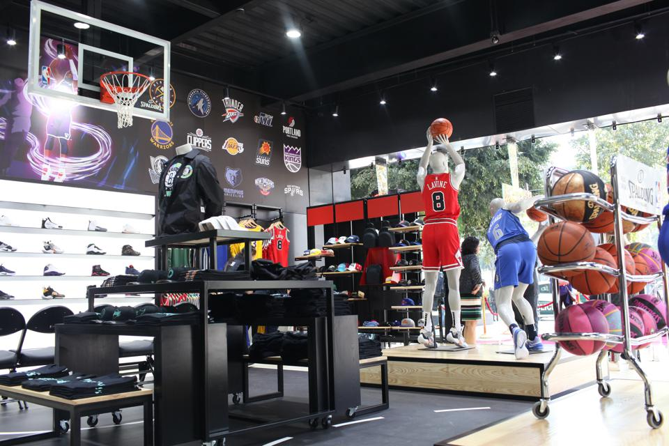 The NBA Store in Mexico City