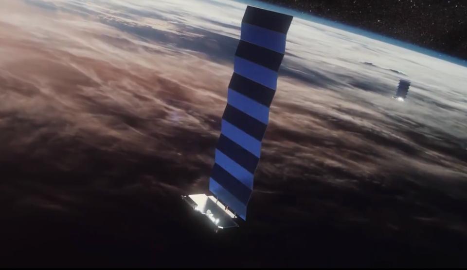 SpaceX Starlink illustration