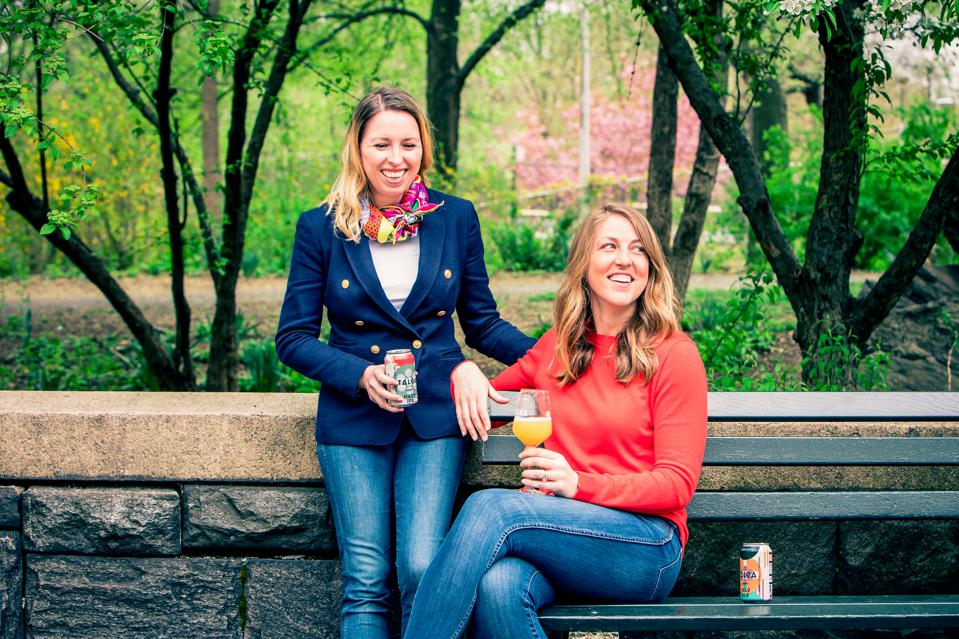 Talea Beer Co. founders Tara Hankinson (left) and LeAnn Darland enjoy Central Park while on their daily mission to create ″easy-to-love″ beers.