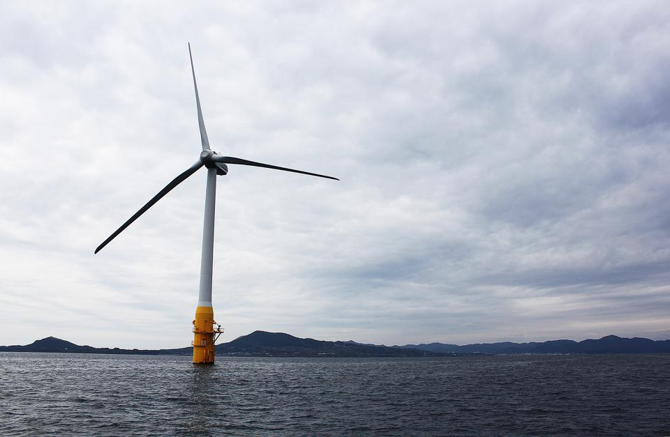 Offshore wind turbine in Japan