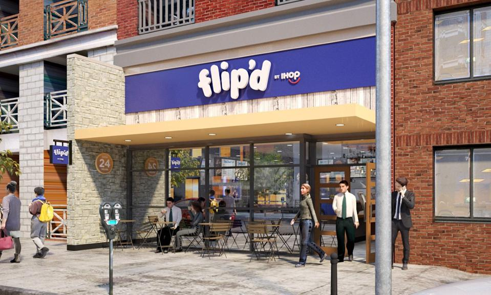 A rendering of Flip'd, a new concept from IHOP opening in spring 2020.