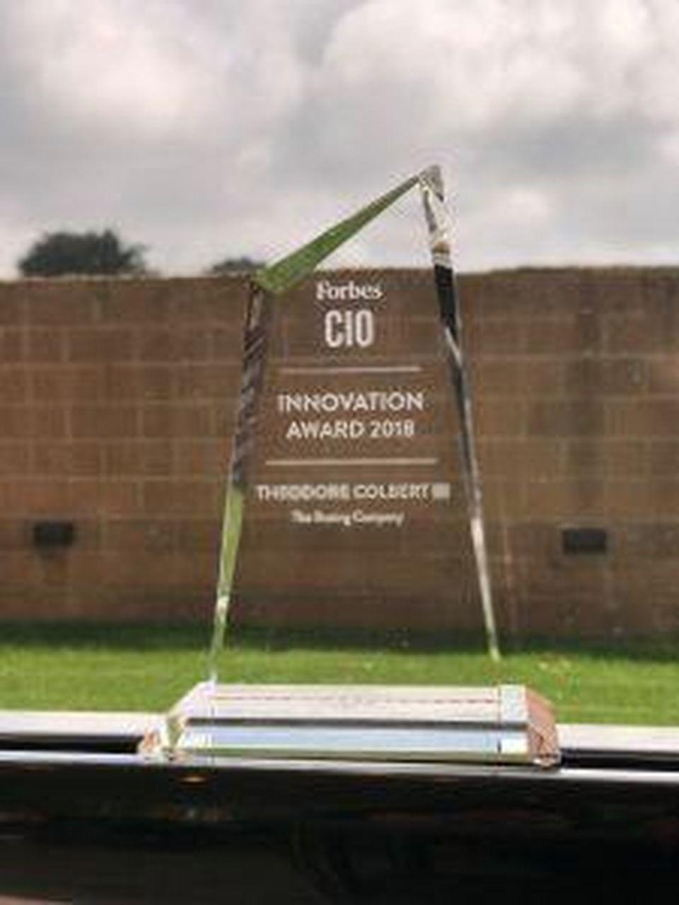 The Forbes CIO Innovation Award is given to CIOs driving revenue based innovation.