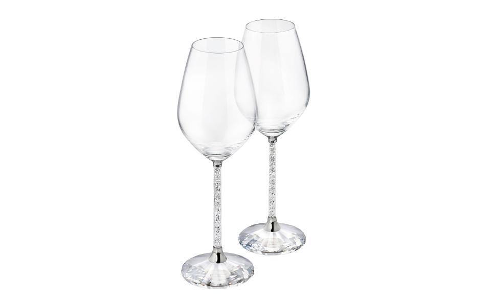 Swarovski Crystalline Set of 2 Wine Glasses