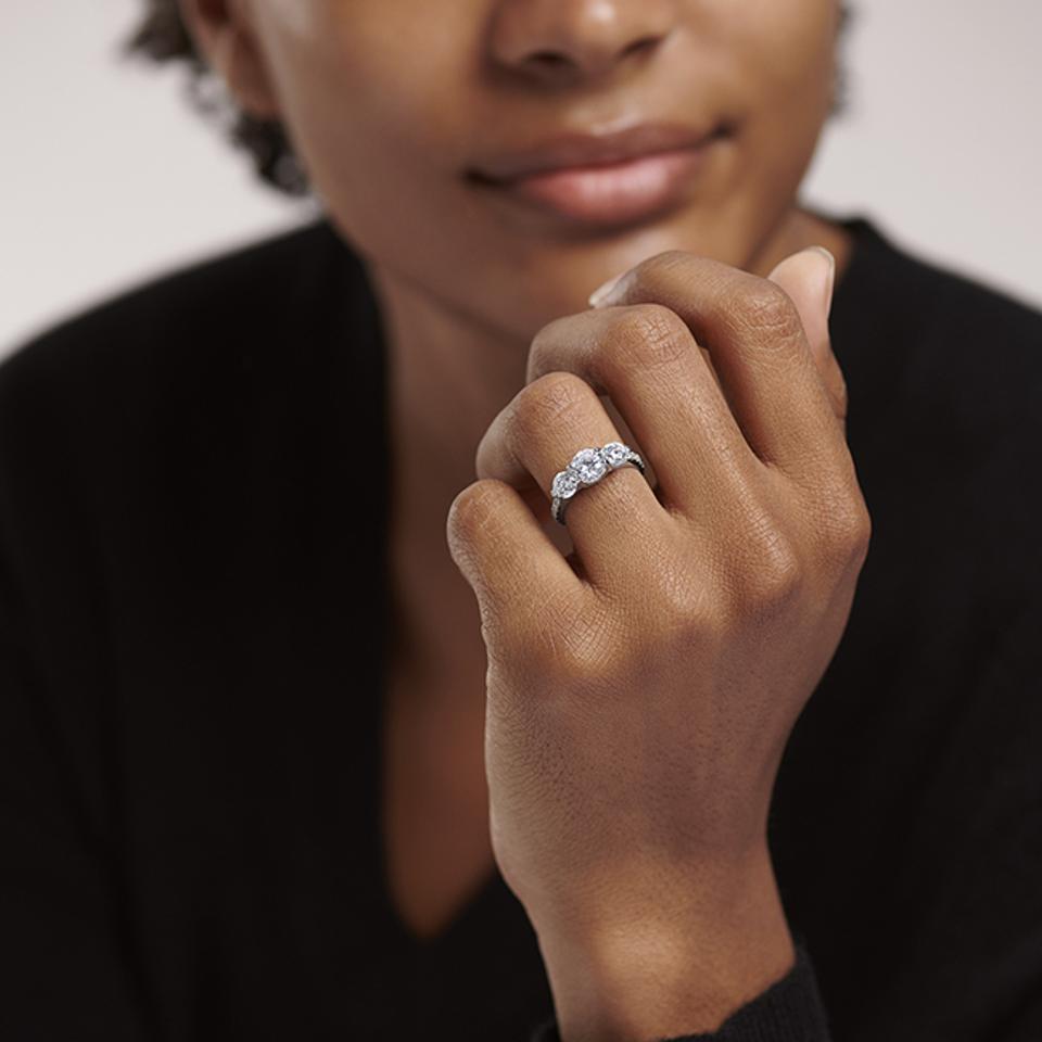 Blue Nile engagement ring.