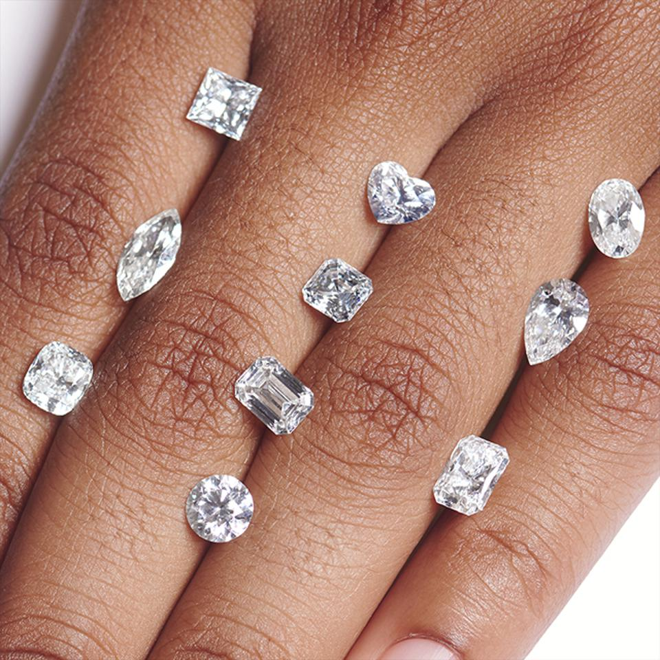 On Blue Nile's website, consumers can shop for diamonds by shape, price, carat weight, cut quality, color, delivery date, and clarity.