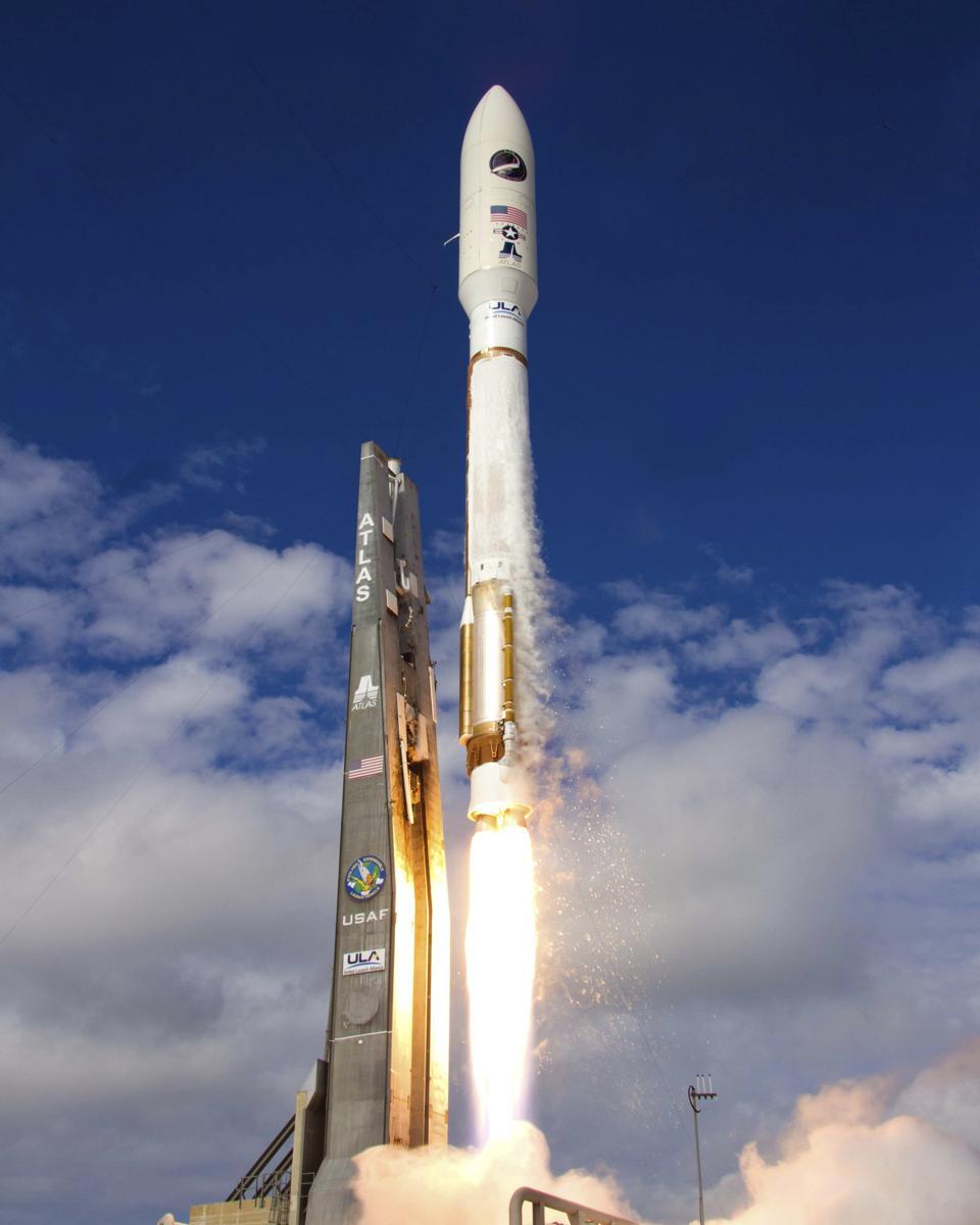 Launch of Atlas V rocket carrying X-37B Orbital Test Vehicle