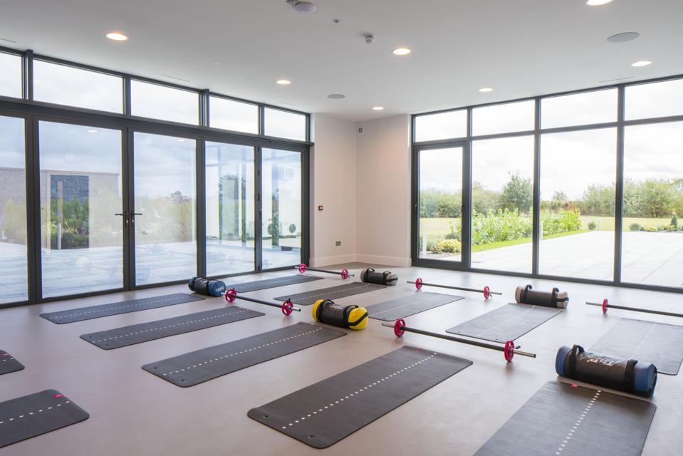 Fitness studio at Glasshouse wellness retreat