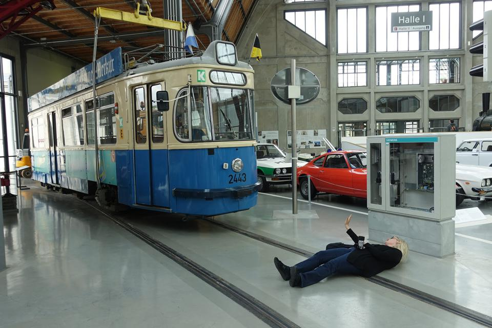 Trolley approaches victim
