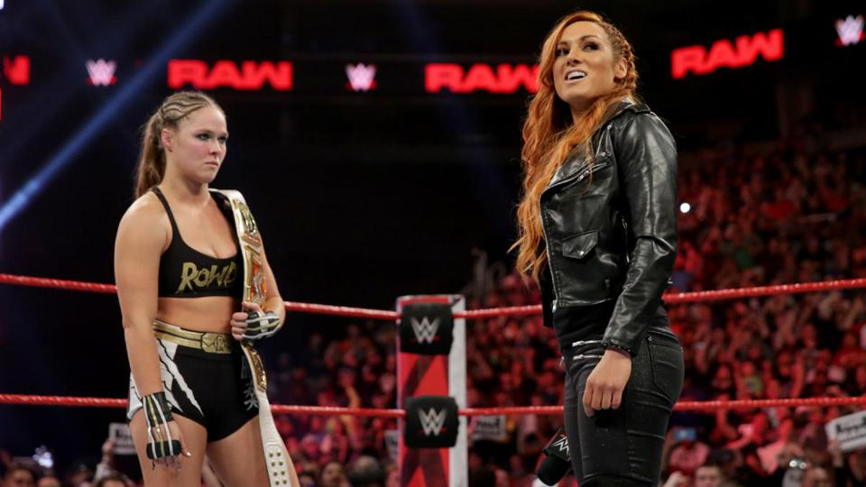 WWE Raw: Ronda Rousey and Becky Lynch