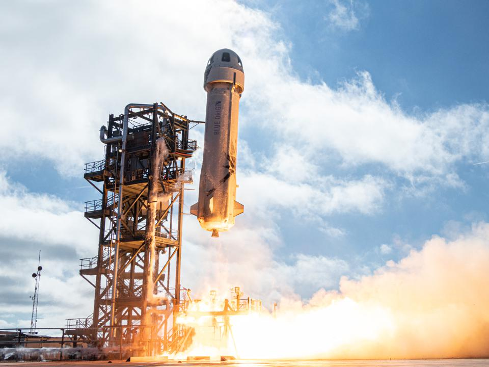 Blue Origin liftoff