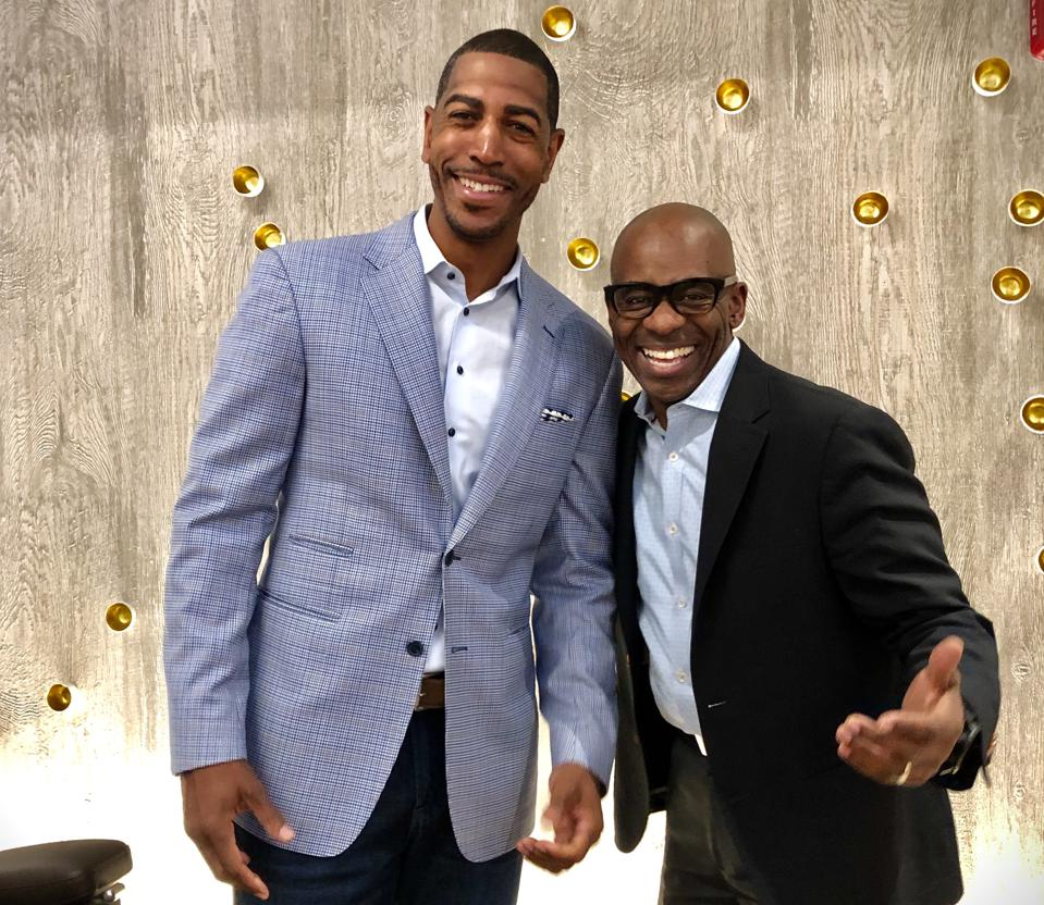 Former UConn men's coach Kevin Ollie (left) and Dr. Charles Anderson are opening a Modern Acupuncture location in Burlington, Massachusetts in 2020.