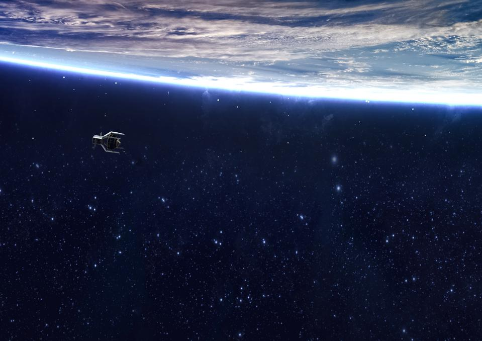 Artist's impression of ClearSpace in orbit.