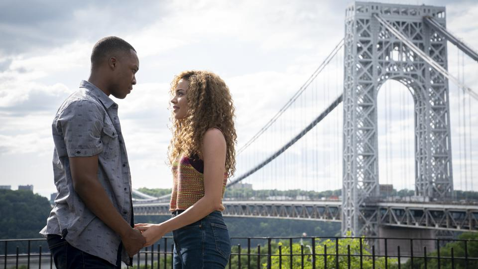 COREY HAWKINS as Benny and LESLIE GRACE as Nina in Warner Bros. Pictures' 'IN THE HEIGHTS'