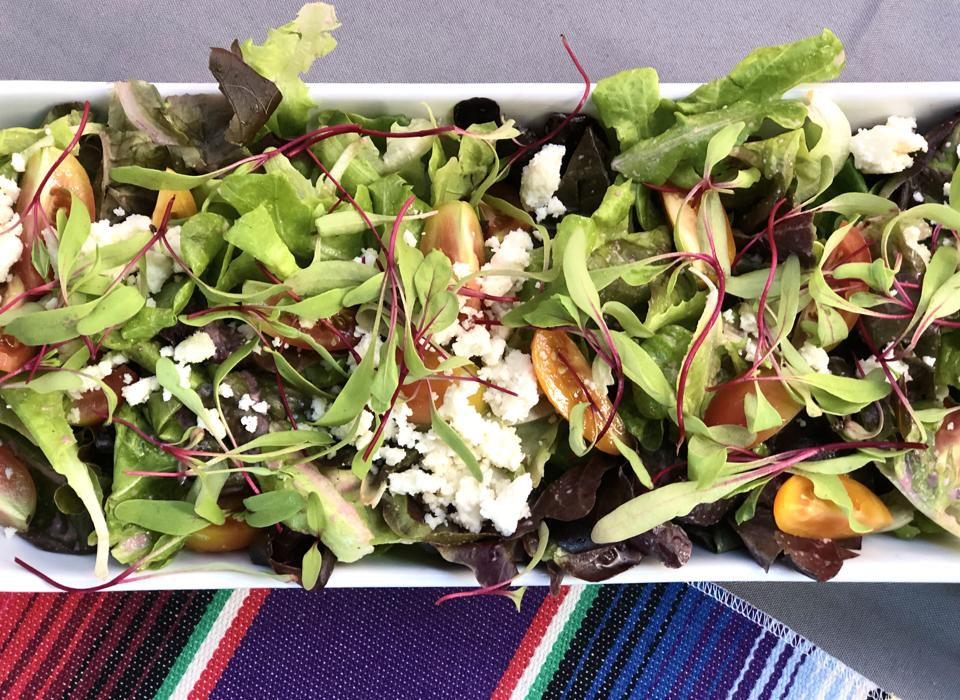 Baby Health in Winter De La Mesa farms microgreens salad in  Hawaii