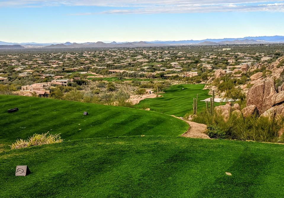 View from the first tee at Desert Highlands