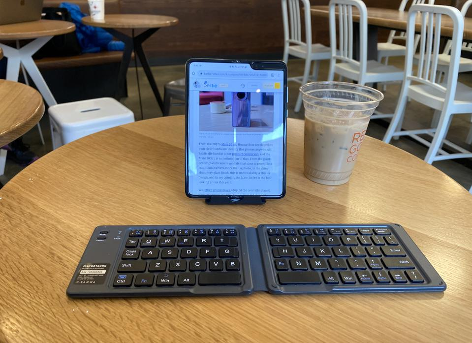 The Galaxy Fold allows me to do work at almost a laptop like level as long as I have an external keyboard.