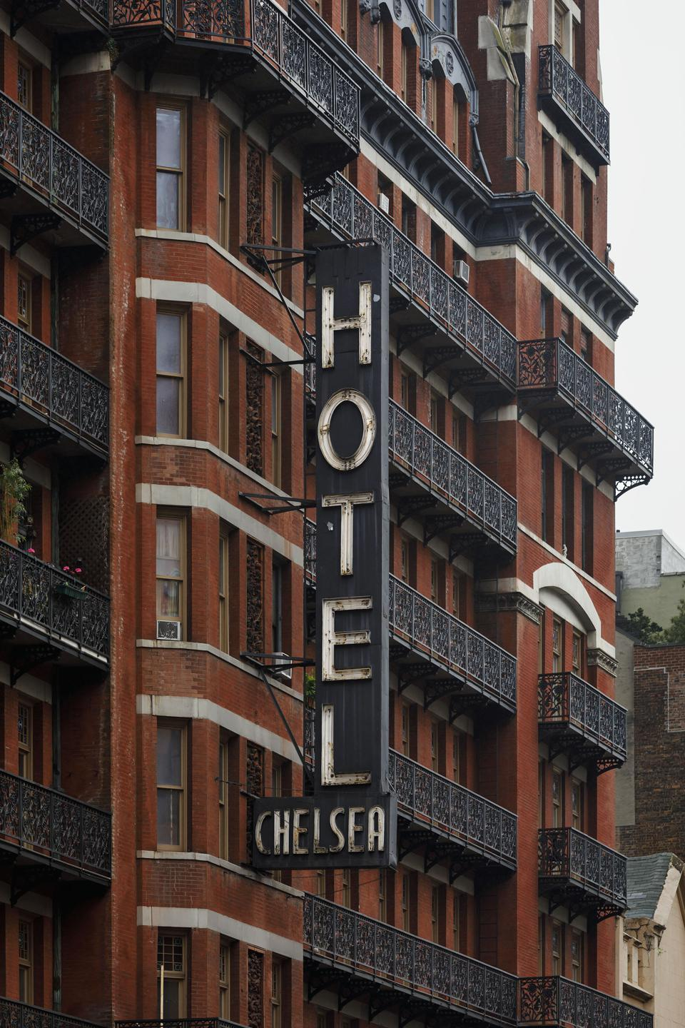 Exterior of the famous Hotel Chelsea in New York City.