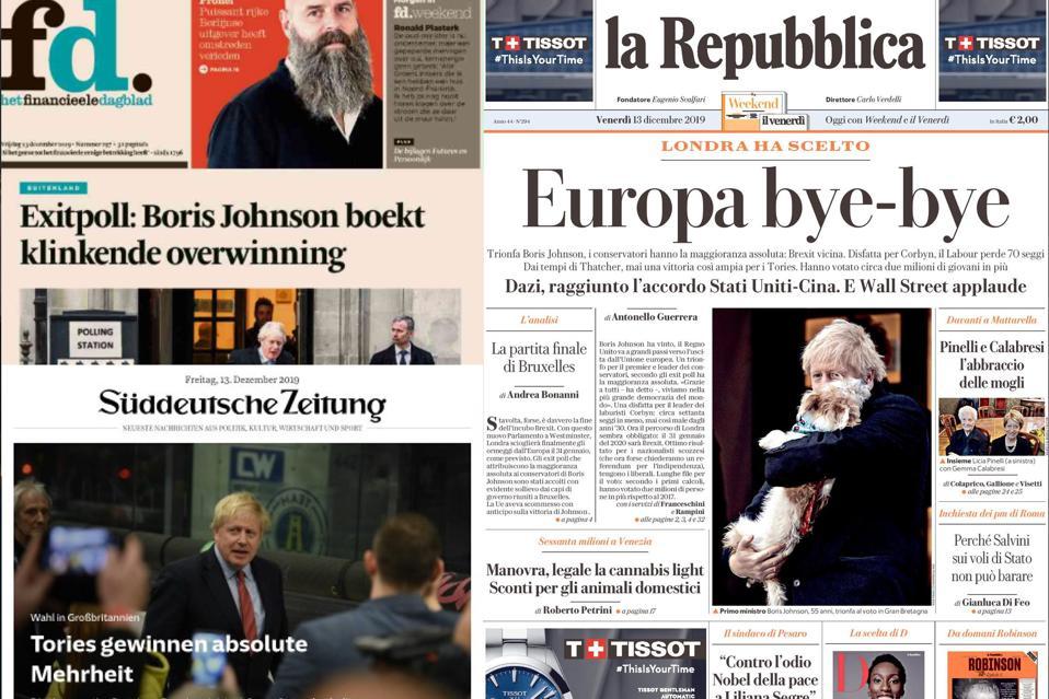 European newspapers react to U.K. General Election