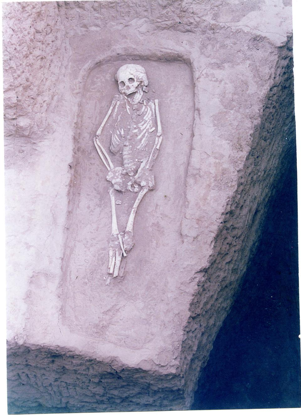 Photo of a burial from Guanjia, China, dating to 3300-2900 BC.