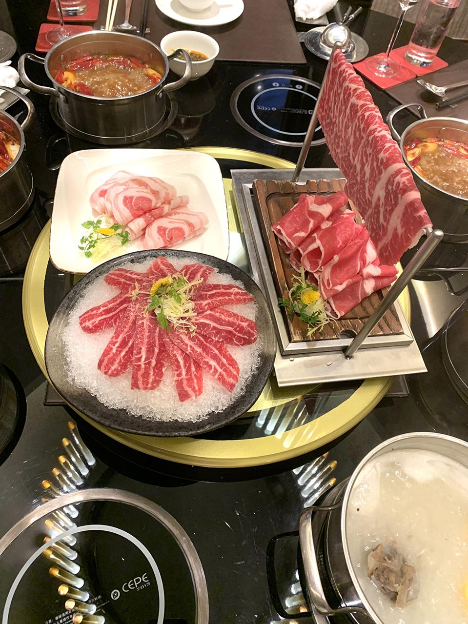 Lotus Palace's Private Hot Pot Table