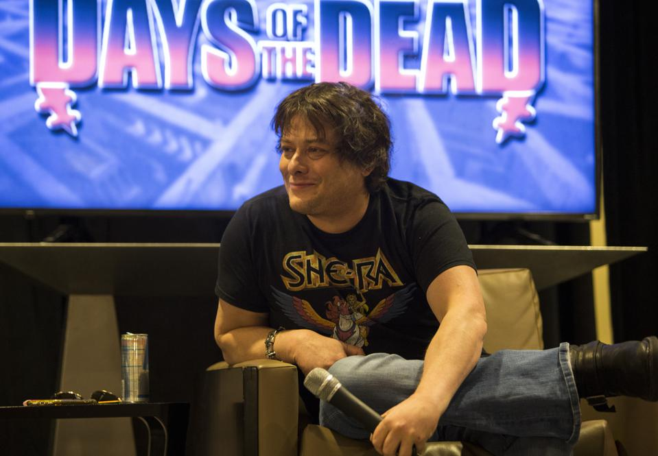 Actor Edward Furlong takes part in a panel during the Days of the Dead Chicago convention. Sunday, November 24, 2019 at the Crowne Plaza Hotel in Rosemont, IL (Photo by Barry Brecheisen)