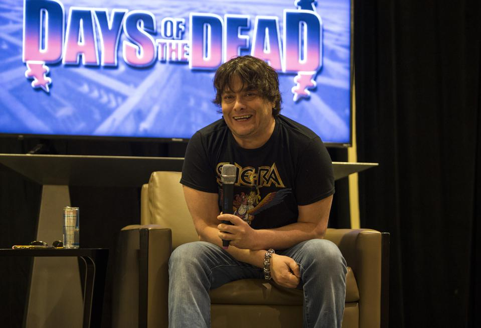 Actor Edward Furlong discusses his role in the Terminator franchise during a Days of the Dead panel discussion. Sunday, November 24, 2019 at the Crowne Plaza Hotel in Rosemont, IL (Photo by Barry Brecheisen)