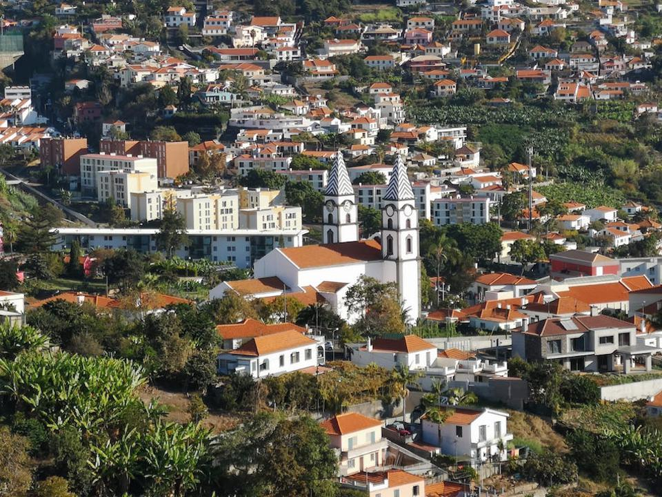 The city of Funchal with a view of where the famous footballer Ronaldo was born.