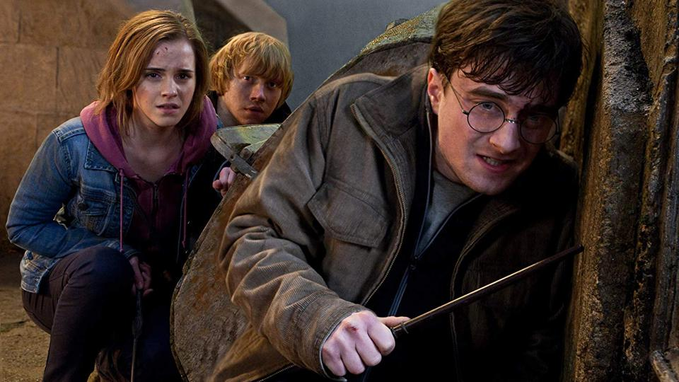 Rupert Grint, Daniel Radcliffe, and Emma Watson in 'Harry Potter and the Deathly Hallows Part 2'