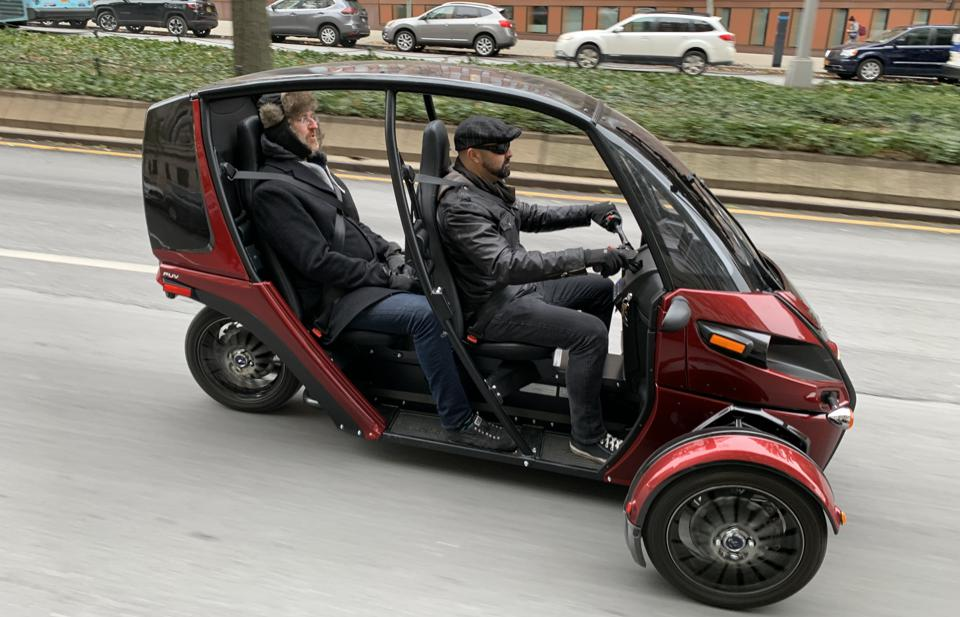 The Arcimoto FUV in action