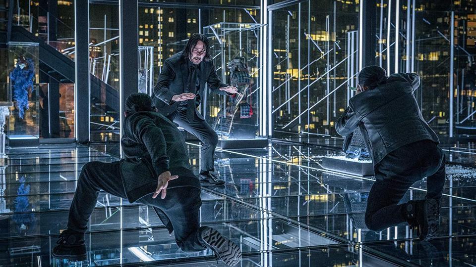 Keanu Reeves, Yayan Ruhian, and Cecep Arif Rahman in 'John Wick Chapter 3 - Parabellum'