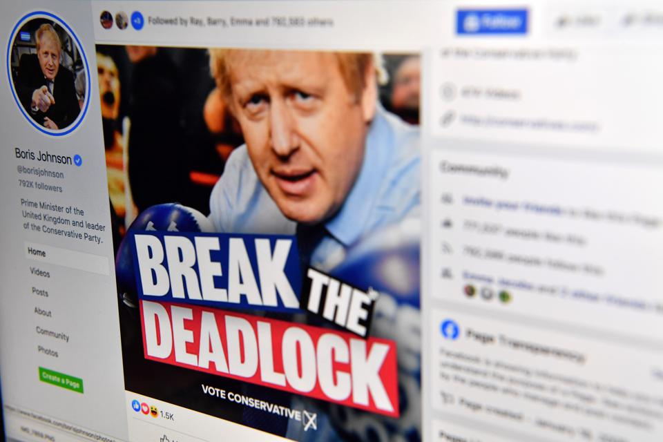 Thousands Of Misleading Facebook Ads Help Conservatives To 'Crushing' UK Election Victory
