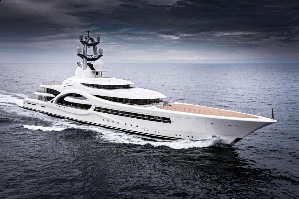 Superyacht ANNA owned by Russian billionaire Dmitry Rybolovlev