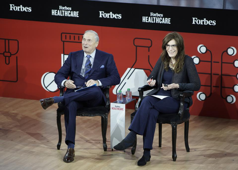 Robert Grossman and Judy Faulkner at the Forbes Healthcare Summit in New York City.
