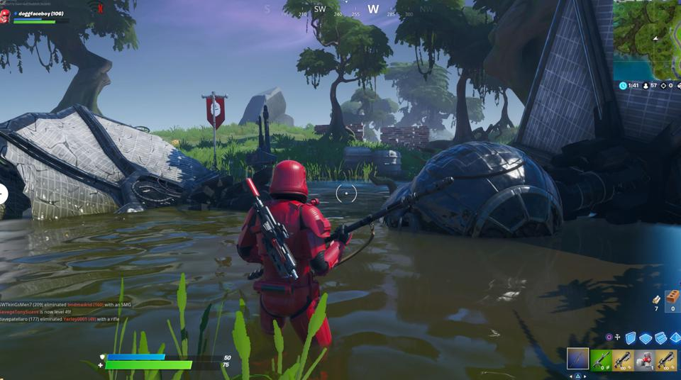 'Fortnite' Tie Fighter Crash Site Locations: Where To Raise Your Banner