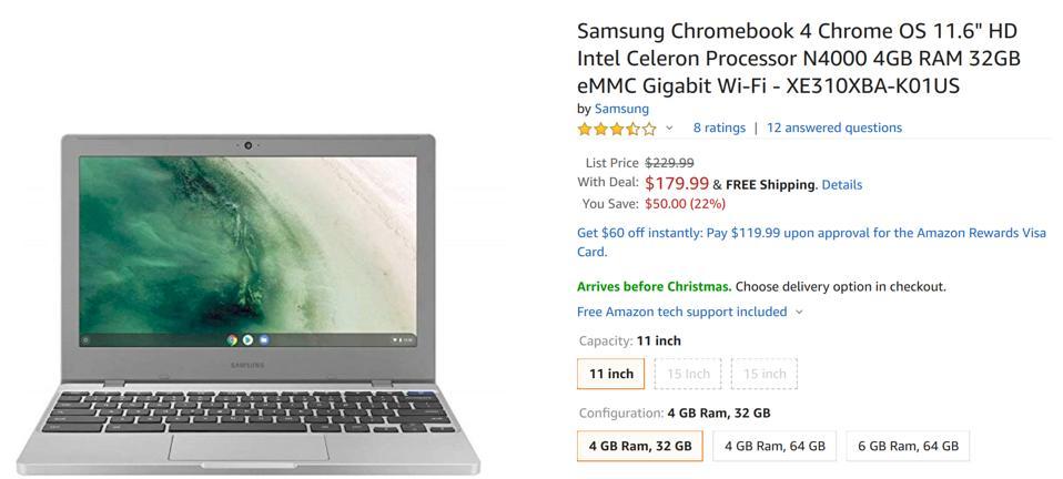 Amazon laptop deals, Amazon Chromebook deals, Amazon MacBook deals, best Amazon laptop deals