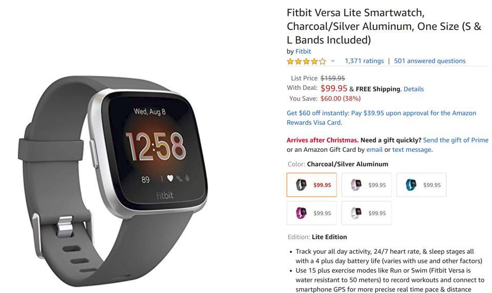 Amazon smartwatch deals, Amazon Fitbit deals, Amazon Apple Watch deals,