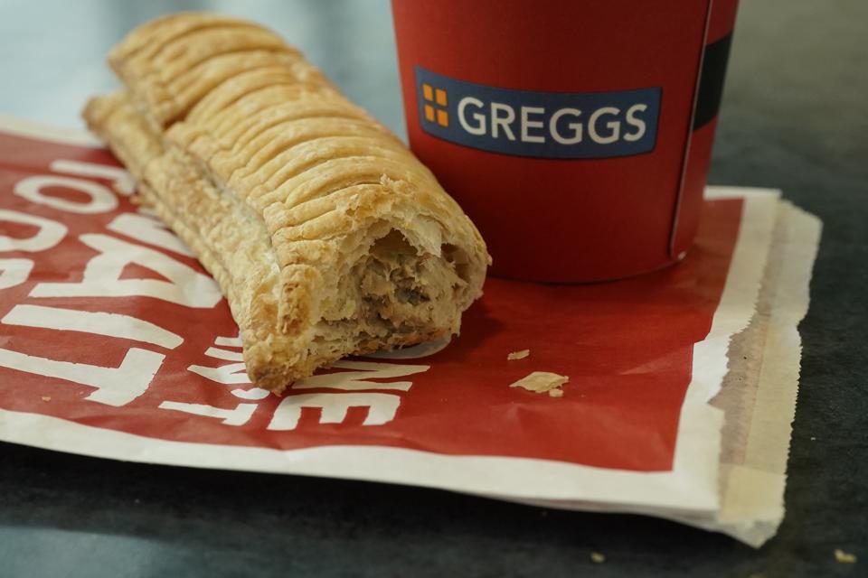 A Greggs vegan sausage roll