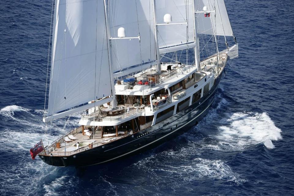 EOS super sailing yacht owned by Barry Diller and Diane Von Furstenberg