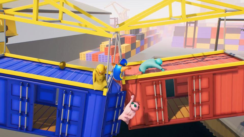 Gang Beasts railway fight