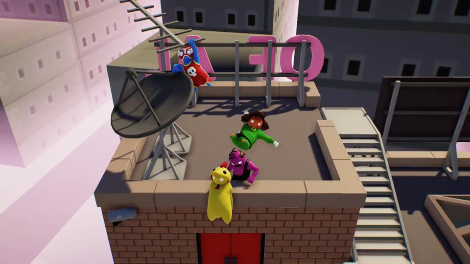 Gang Beasts roof