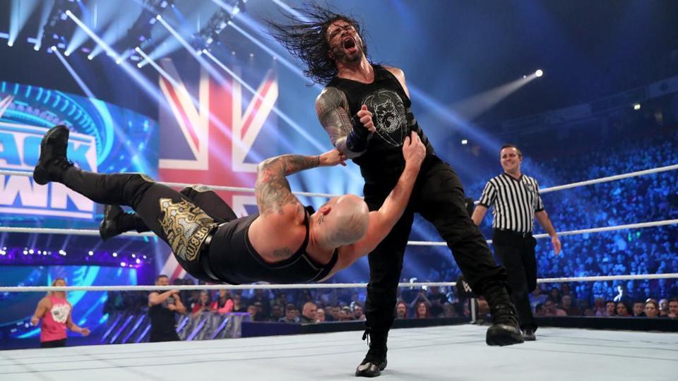 WWE Roman Reigns TLC 2019 Baron Corbin